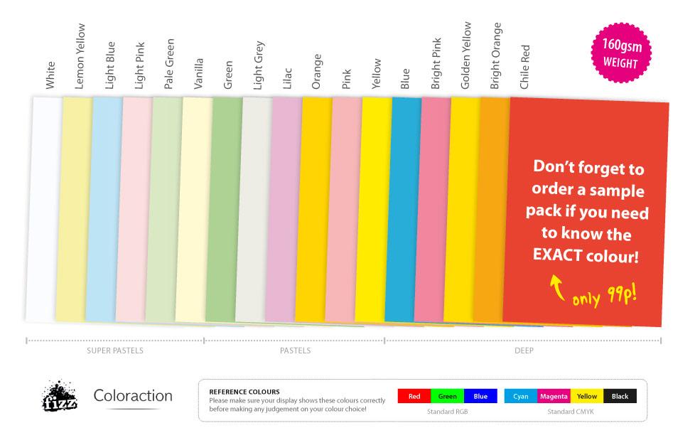 A5 Sheets Coloured Craft Printer Copier Card 160gsm Stock ...